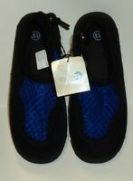 Kids Black & Blue Aqua Water Shoes Easy On & Off Comfortable Durable Size 13