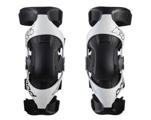 NEW 2021 POD K4 2.0 KNEE BRACES WHITE PAIR + FREE BAG MOTOCROSS MX ENDURO ADULT