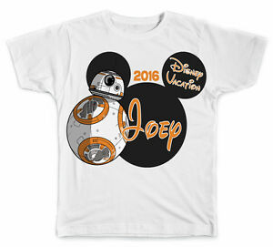bc630d6fc Personalized Disney Vacation Mickey Head with BB-8 from Star Wars T ...