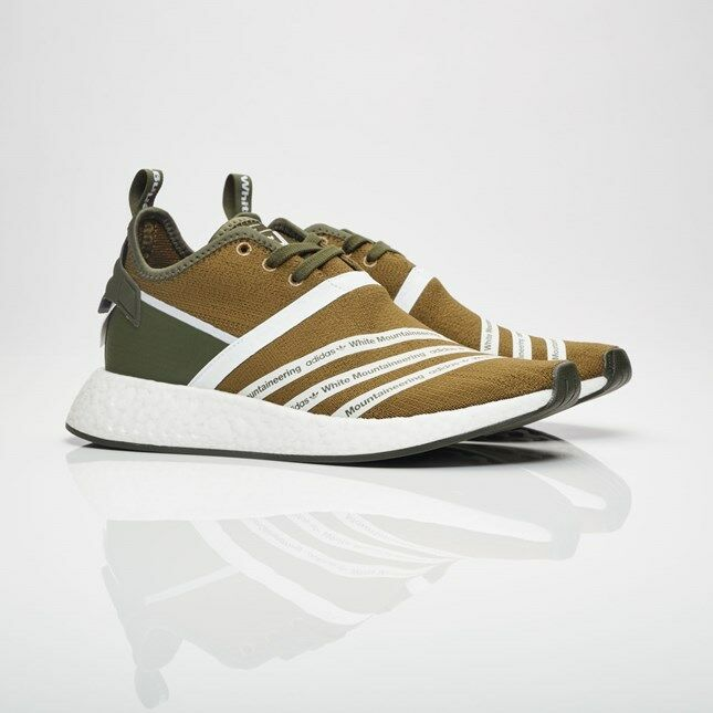 Adidas NMD_R2 PK by White Mountaineering CG3649 US Trace Olive Men Size US CG3649 10.5 NEW 58239a