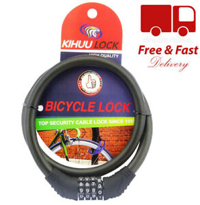 Bicycle Bike Cycle Lock Resettable 4 Digit Code Security Combination Lock So