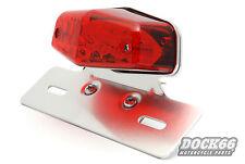 Lucas Style Rücklicht LED mit Kennzeichenhalter für  Yamaha, Harley mit ECE