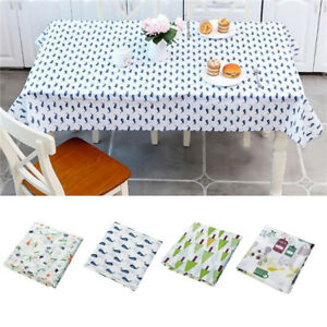 Image Is Loading Wipe Clean Pvc Vinyl Tablecloth Dining Kitchen Table