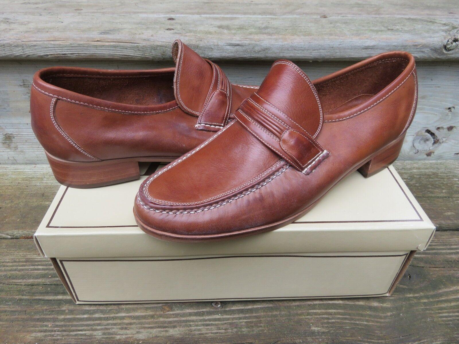 NOS Hanover Handsewn Woven Fullstrap  Leather Moccasin Size 10 M Made in Brazil Scarpe classiche da uomo
