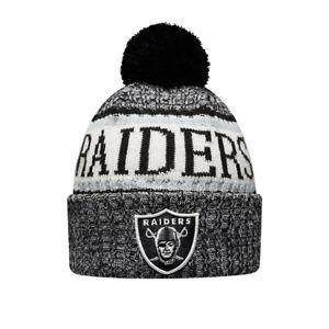 04d6c084752 NEW ERA OAKLAND RAIDERS SIDELINE BOBBLE HAT.NEW NFL LINED MENS ...