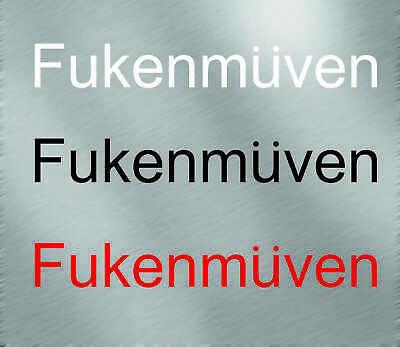 FUKENMUVEN VINYL STICKER DECAL VW honda VOLKSWAGEN BMW E46 E30 GTI JETTA civic