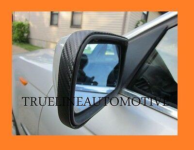 Black Carbon Fiber Mirror Trim Molding Strips For Lexus Models