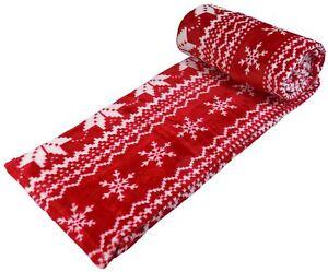 Stella-Del-Fiocco-di-Neve-Nordico-Rosso-Bianco-Natale-Coperta-in-Pile-150CM-x