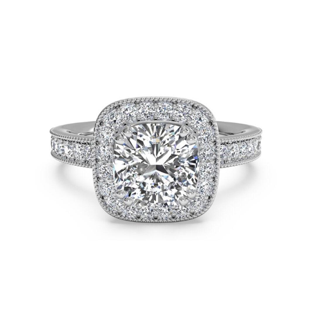 1.20 Ct Solitaire Diamond Engagement Rings 14K White gold VVS1 D Size 7 5 6