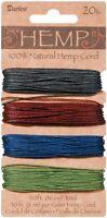 Hemp Cord Set, 4 Colors, Assorted Earthy Dark Colors, 20lb, 30' (9.1m) Per Color