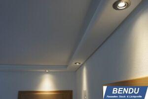 Details zu LED Stuck-Profile indirekte Beleuchtung Wand Decke Licht-Leiste  Hartschaum BENDU