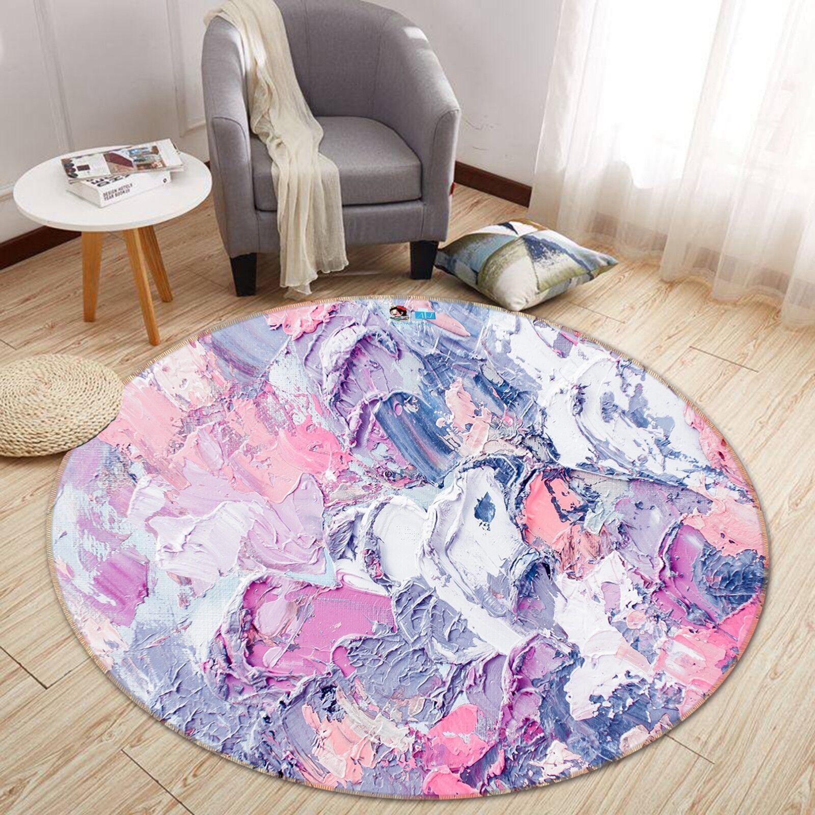 3D fango a guazzo dal ART 8 antiscivolo tappeto camera Tappetino Tondo Qualità Elegante foto Tappeto UK