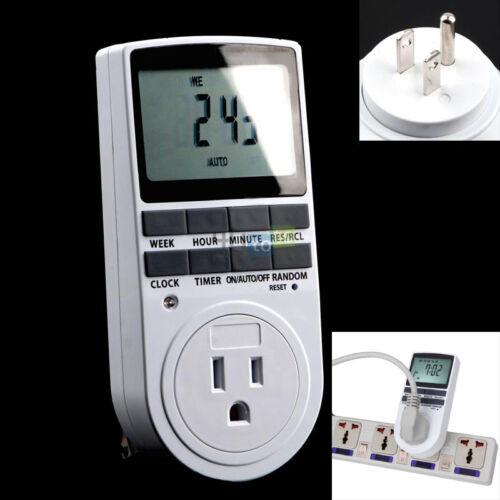 120 V Affichage LCD Energy Saving Time Setting Minuterie Programmable Prise US Plug