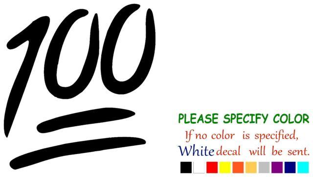 "Emoji 100 Funny Vinyl Decal Sticker Car Window laptop tablet truck netbook 6/"""