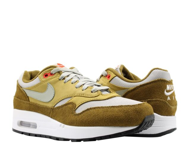 9842b24a34736 Nike Air Max 1 Premium Retro Olive Spruce Fog Men s Running Shoes 908366-300