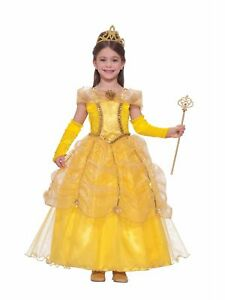 Image Is Loading Golden Yellow Princess Costume Dress Child S Medium