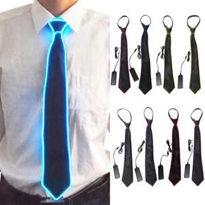 Back To Search Resultsapparel Accessories El Tie Led Luminous Light Up Flashing Striped Luminous Necktie Men Club Cosplay Party Costumes Glowing Supplies Bar Show
