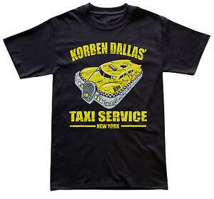 Korben Dallas's Taxi Service Fifth Element T-shirt, 20th Anniversaire Rétro Années 90-afficher Le Titre D'origine éLéGant Dans Le Style