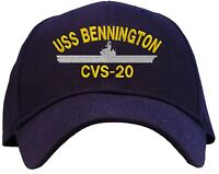 Uss Bennington Cvs-20 Embroidered Baseball Cap - Available In 7 Colors - Hat