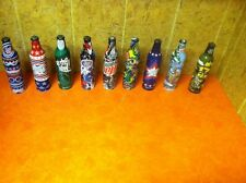 Rare Mountain Dew Green Label Art Lot-9 Full Bottles- All Are Different!  Nice!
