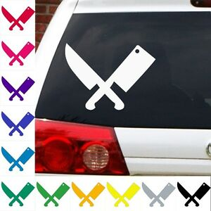 Crossed-knife-and-cleaver-decal-Iron-chef-cook-butcher-cutlery-sharpning-sticker