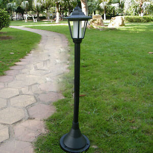 Image Is Loading Outdoor Solar Powered Led Landscape Light Stand Lamp
