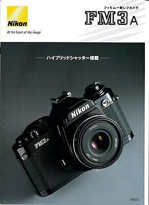 Nikon genuino 2004 idioma japonés Folleto de producto para Cámara FM3A