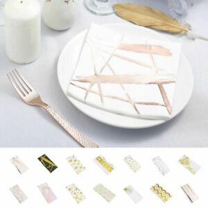 """200 13x13/"""" Metallic Paper Napkins Party Wedding Supplies Catering Decorations"""