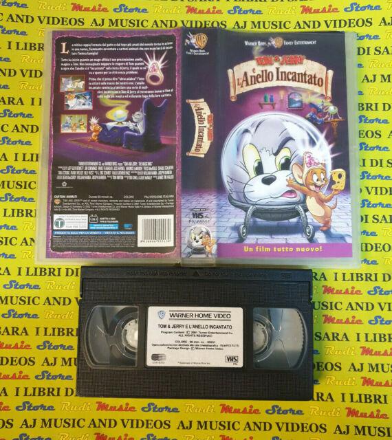 VHS film TOM & JERRY E L'ANELLO INCANTATO animazione 2002 WARNER (F191) no dvd