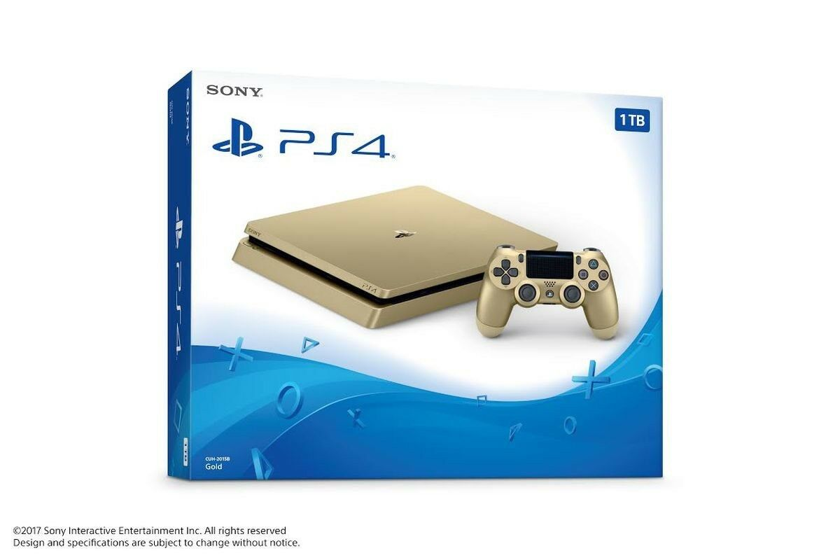 Sony Playstation 4 Slim Limited Edition 1tb Gold Console Ebay 1 Tb Cuh 2016b Stock Photo