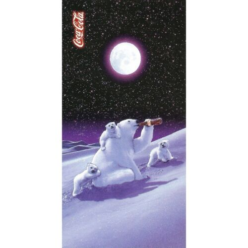 Serviette de plage Drap de bain Coca Cola Ours polaire Moonlight beach towel