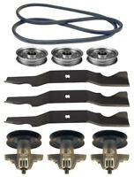 Yard-man 50 Rzt-50 Mower Deck Parts Kit Spindles Blades Belt Free Shipping