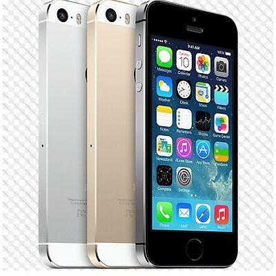 """Apple iPhone 5S- 16 32 64GB GSM """"Factory Unlocked"""" Smartphone Gold Gray Silver c"""