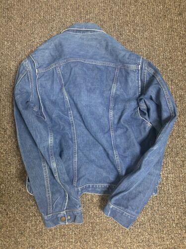Vintage 1960s Wrangler Denim Jean Jacket Blue Bell