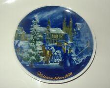 Weihnachts-Teller 1976 Wandteller Porzellan Royal Tettau Atelier Germany