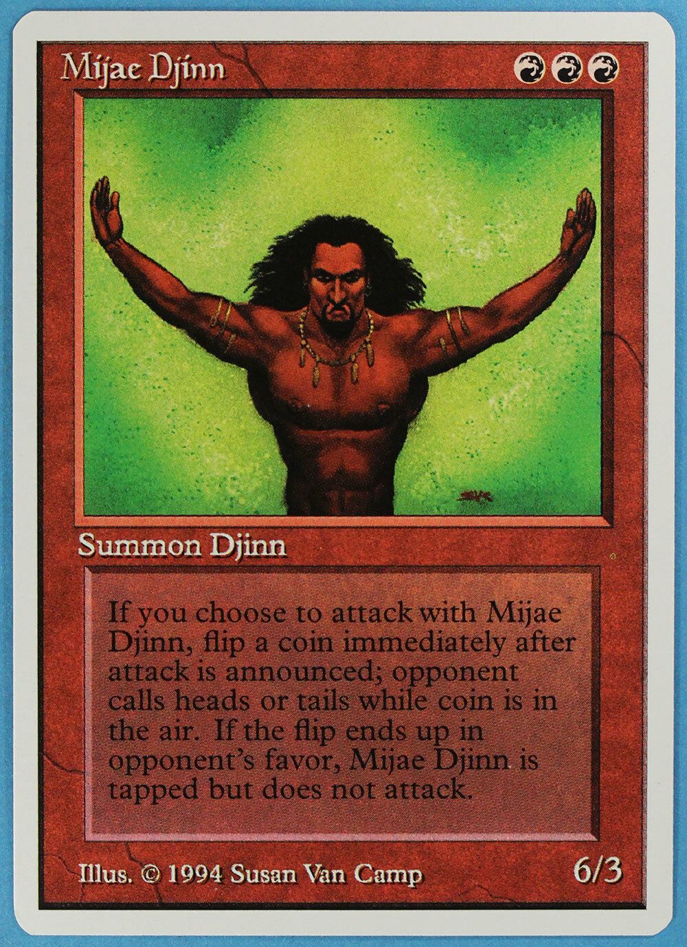 Mijae Mijae Mijae Djinn Summer Magic Edgar NM-M Red Rare MTG CARD (ID) ABUGames fd12dd