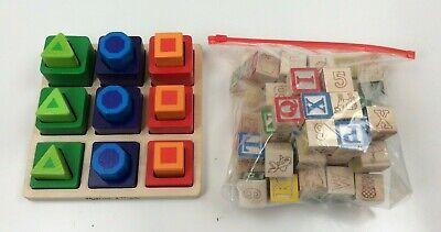Melissa & Doug Shape Sequence Sorting Set w/Wood Blocks | eBay