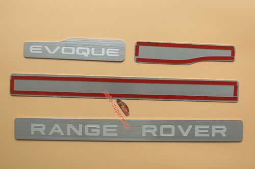 Aluminum Door sill scuff plate Insert Trim For Range Rover Evoque 4Door 2012