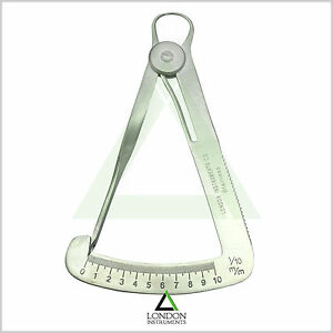 Orthodontic-Lwanson-Tenth-Diamond-Caliper-Dental-Iwanson-Wax-Gauge-Measuring-Lab