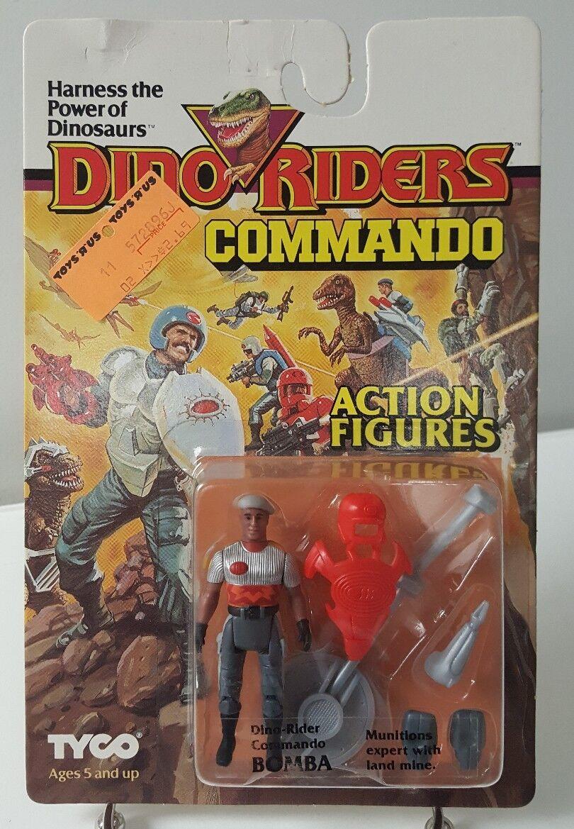 Dino Riders bomba Commando figuras de acción 1987 TYCO menta en tarjeta