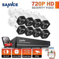 SANNCE 1080N 8CH 4in1 DVR 1500TVL CCTV IP66 Security Camera System 1TB APP View