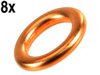 Mercedes (70-91) Copper Seal Ring (x8) For Valve Cover Screws Washer Sealing