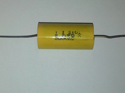 T.I 2.7uF 200 Volt AC VAC Poly Film Capacitor Axial Leads  USA Seller