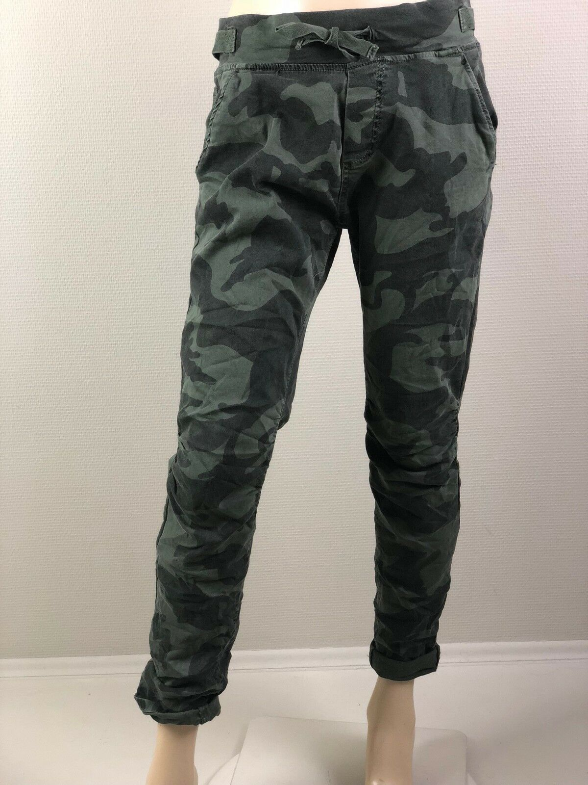 Melly&Co dunkles camouflage Jogging-Style-Jeans Hose wow Jogpant XS S M L XL
