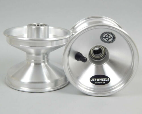 Jet Wheel Front Silver 100mm Super Offset x 1 UK KART STORE