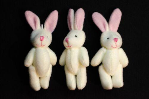 3er Set Hase Aufstellfiguren Tierfigur Miniblings Ostern Kaninchen weiß Plüsch