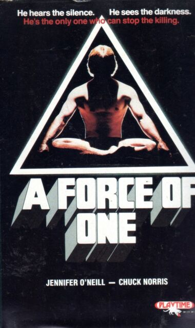 A Force Of One (1979) VHS Playtime  Cuck NORRIS  Jennifer O'Neill