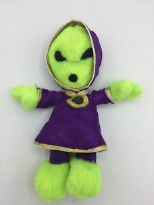 Vintage-1996-Nanco-Nancy-Sales-Co-8-034-Stuffed-Plush-Little-Green-Man-UFO-Alien