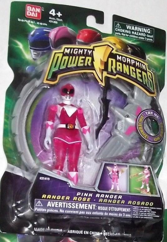 Mächtige morphin power rangers Rosa 4  mit licht - dino fliegen 2010 neue transparente