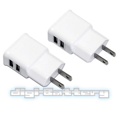 Stipt 2-pack Dual Usb Charger Outlet Ac Wall Plug Adapter For Iphone Ipad Levendig En Geweldig In Stijl